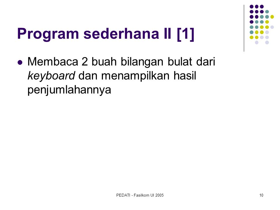 Program sederhana II [1]